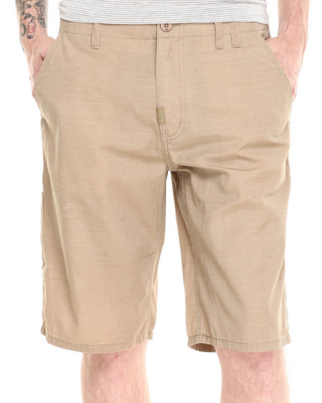 LRG - Men Khaki Brighter Side True-Straight Walk Shorts