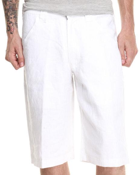 Pelle Pelle - Men White Pelle Linen Shorts