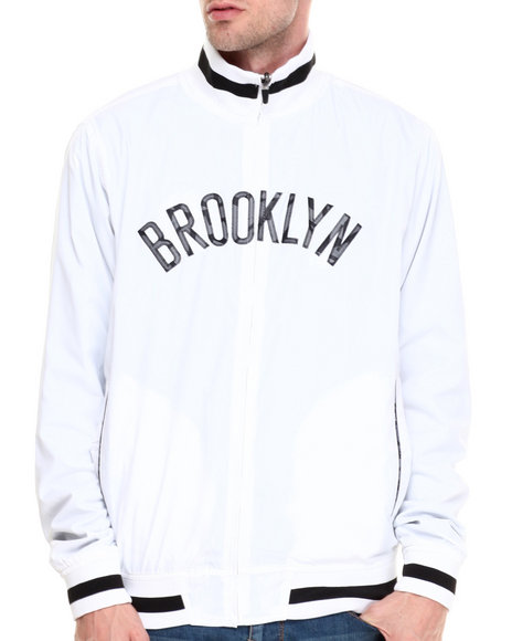 Nba, Mlb, Nfl Gear - Men Multi,White Brooklyn Nets Carter Reversible Jacket