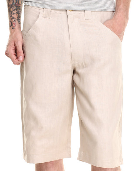 Pelle Pelle - Men Wheat Pelle Linen Shorts