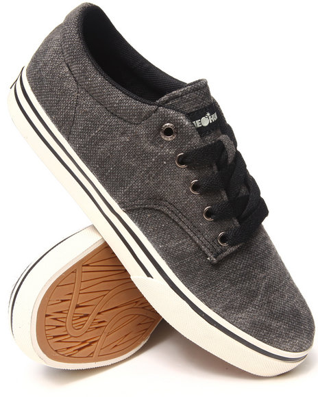 The Hundreds Black Johnson Low Acid Wash Jute Sneakers