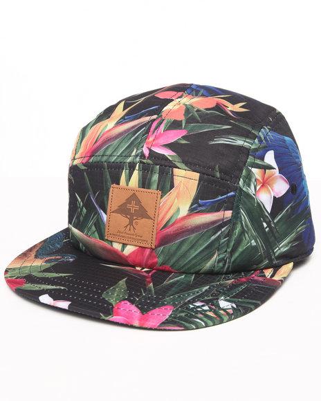Lrg Hawaiian Safari 5-Panel Hat Black