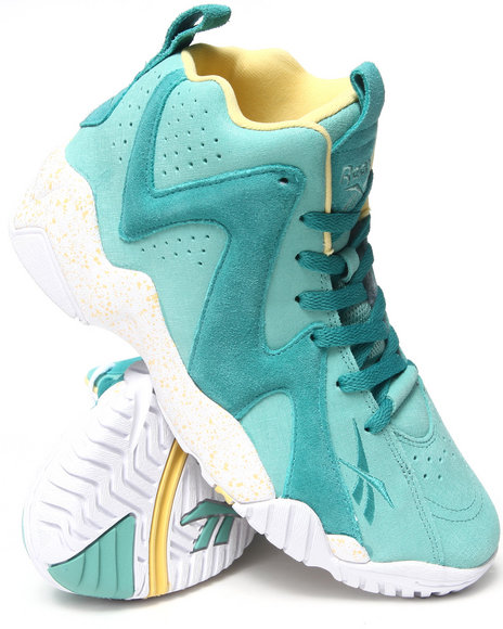 Reebok - Men Teal Kamikaze Ii Mid Sneakers