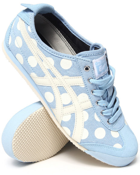 Asics - Women Blue Mexico 66 Polkadot Sneakers
