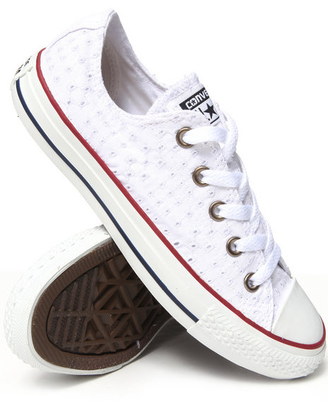 Converse - Women White Eyelet Cutout Chuck Taylor All Star Ox Sneakers