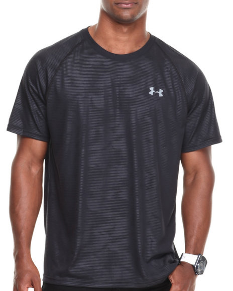 Under Armour Black Embossed Tech Tee