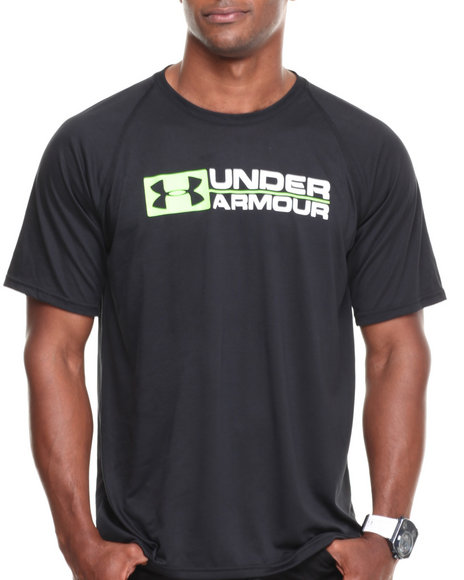 Under Armour - Men Black Lockdown Tee (Moisture Pransport & Anti-Odor Technology)