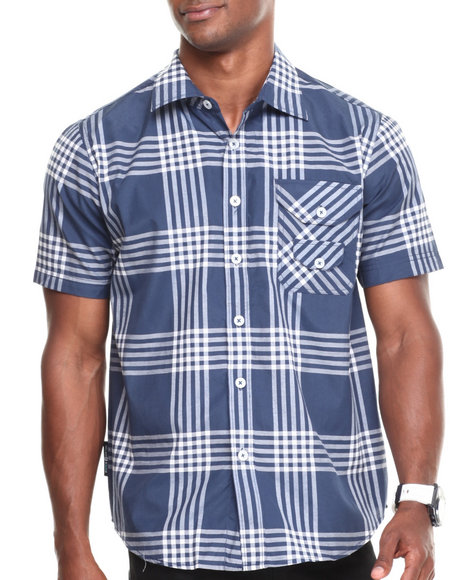Enyce - Men Navy George S/S Button-Down