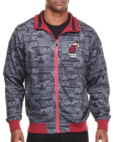 Nba, Mlb, Nfl Gear - Men Grey,Red Miami Heat Carter Reversible Jacket
