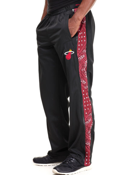 Nba, Mlb, Nfl Gear - Men Black Miami Heat Brahman Drawstring Pants