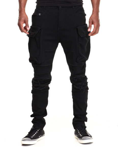 Forte' - Men Black I Pad Cargo Pants