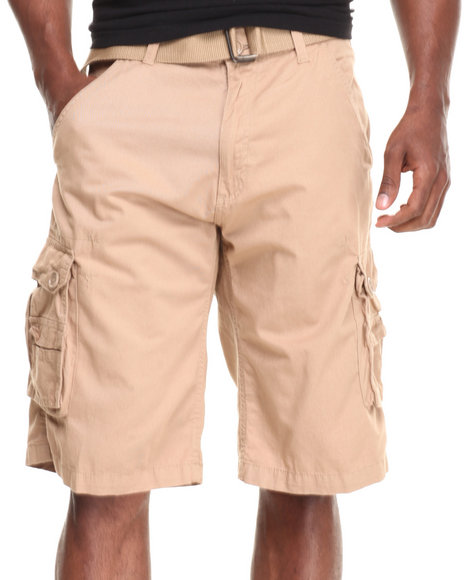 Khaki Cargo Shorts for Men