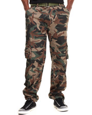 DRJ Army/Navy Shop - Camo Washed Crinkle Cargo Pants