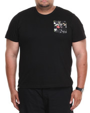 Akademiks - Scotsman Short Sleeve Tee w/ Vegan Leather Floral Print Pocket (B&T)
