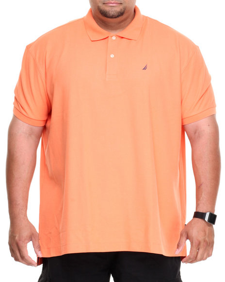 Nautica Orange Solid Deck Polo (Big & Tall)
