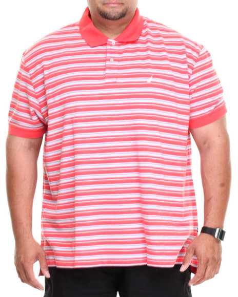 Nautica - Men Coral Feeder Stripe Polo (B&T)