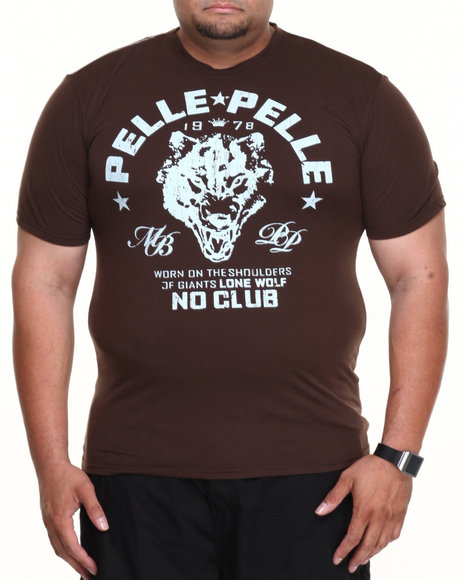 Pelle Pelle - Men Brown Wolf Crewneck S/S Tee (B&T)