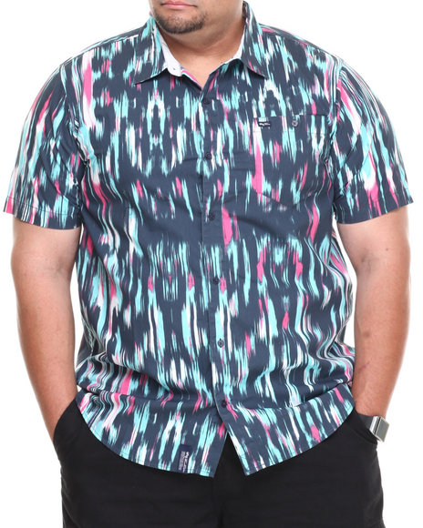 Lrg - Men Multi,Navy Abuse Your Illusion S/S Button-Down (B&T)