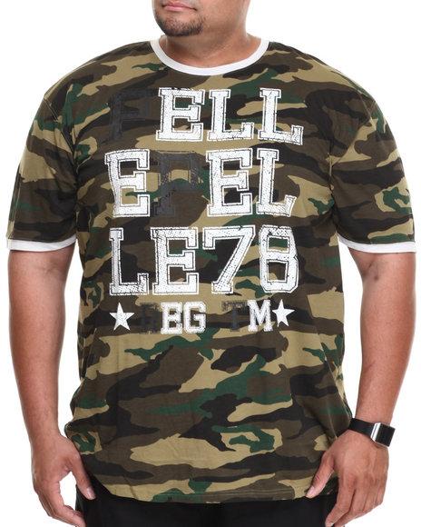 Pelle Pelle - Men Camo Pelle Camo Ringer S/S Tee (B&T)