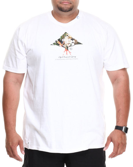 Lrg - Men White Lion Tree S/S Tee (B&T) - $18.99