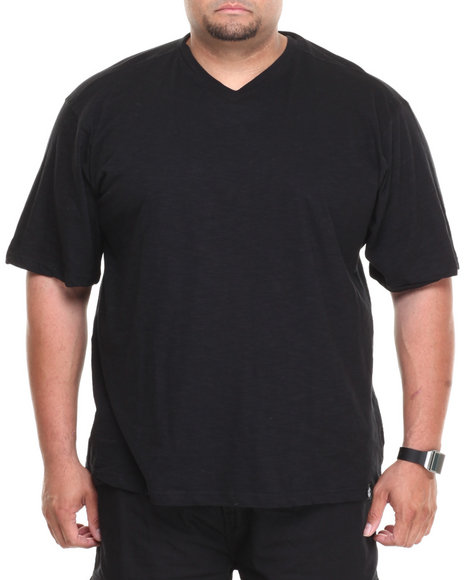 Rocawear Black Slub V-Neck Tee (Big & Tall)