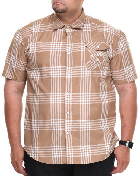 Enyce - Men Light Brown George S/S Button-Down (B&T)