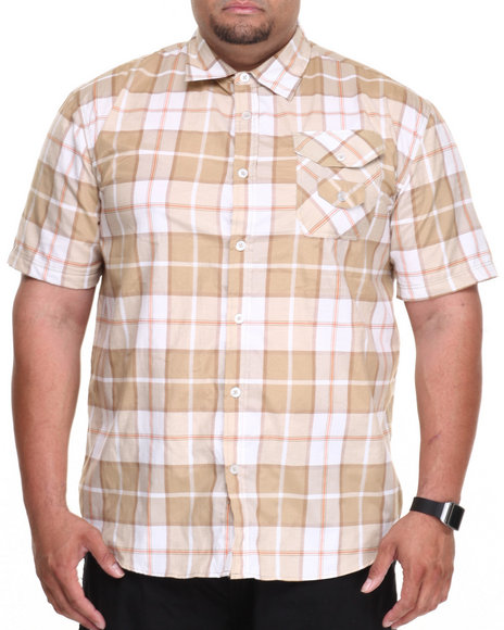 Enyce Khaki Andrew S/S Button-Down (B&T0andrew S/S Button-Down (B&T