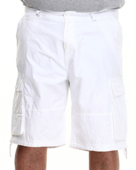LRG - Men White Support Network True - Straight Shorts (B & T)