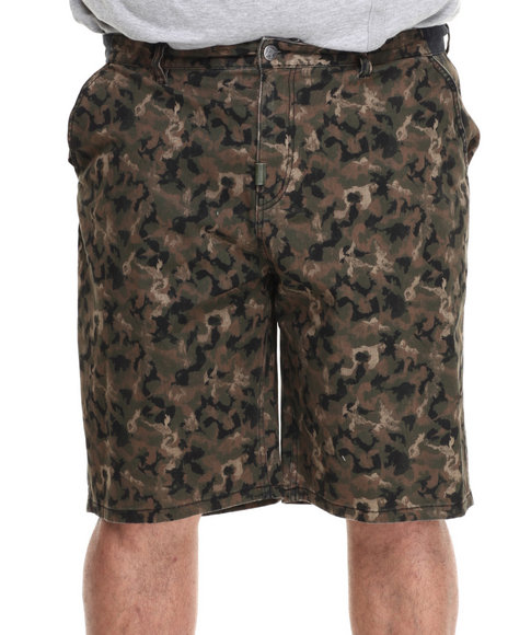 LRG - Men Camo One Two Tree True-Straight Walk Shorts (B & T)