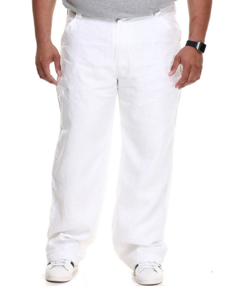 Pelle Pelle - Men White Pelle Linen Pants - $43.99