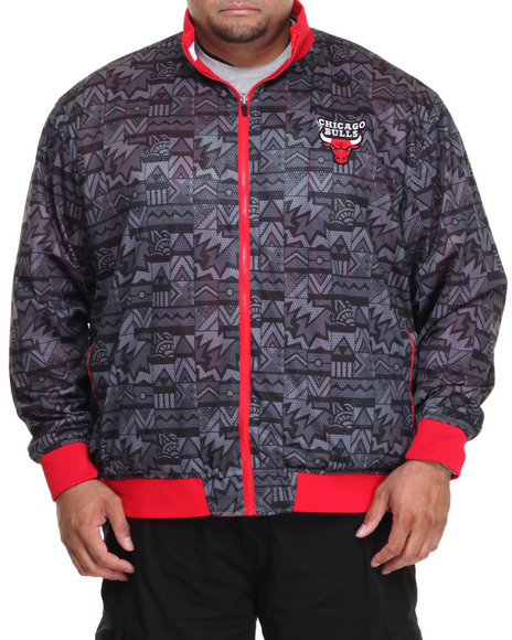 Nba, Mlb, Nfl Gear - Men Black,Red Chicago Bulls Carter Reversible Jacket (B&T)