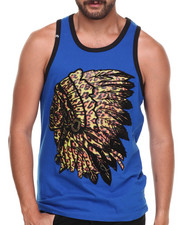Buyers Picks - Leopard Print Indian Chief Graphic Tank
