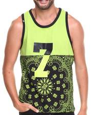 Buyers Picks - Colorblock Bandana Print Tank Top