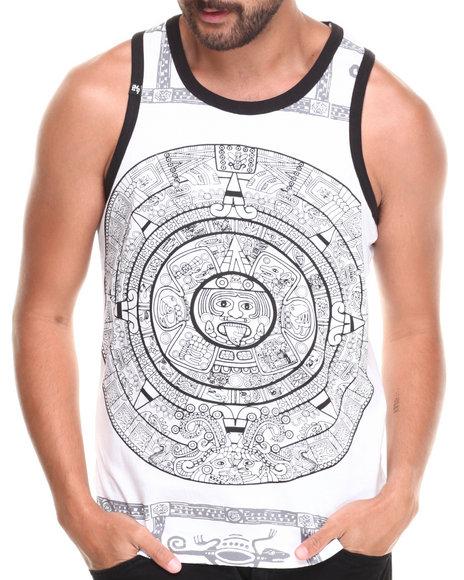 Buyers Picks - Men White Large Aztec Print Tank Top - $8.99