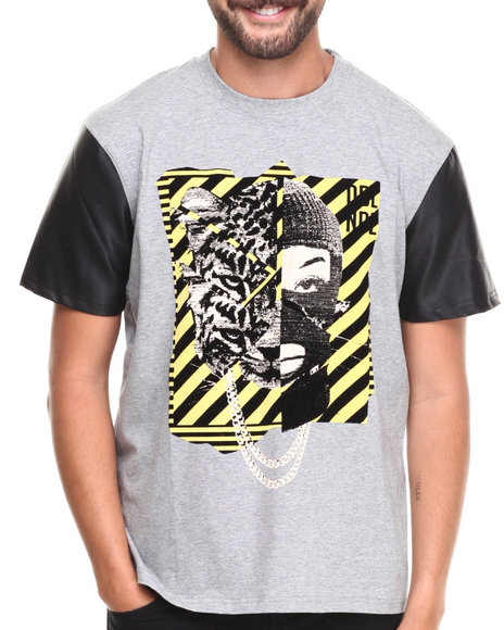 Double Needle Grey Gooncat Graphic Tee