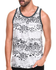 Men - Leopard All Over Animal Print Tank top
