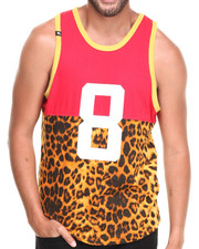 Men - Colorblock Animal Print Tant Top