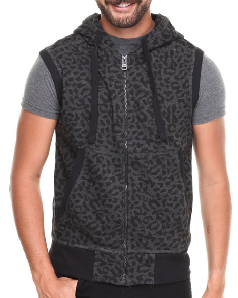 Buyers Picks - Leopard Print Full zip hoody Vest