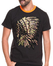 Men - Indian Chief Leopard print S/S Tee