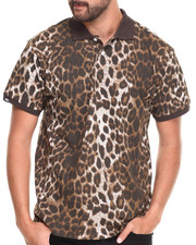 Buyers Picks - Cheetah Animal Print Pique Polo Shirt