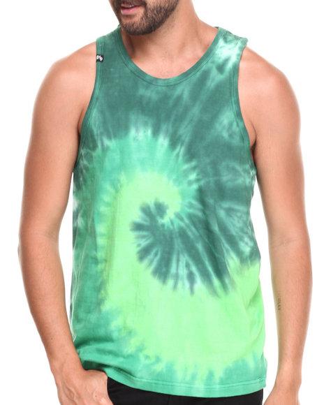 Buyers Picks - Men Green Multi Tie Dye Tank Top - $8.99