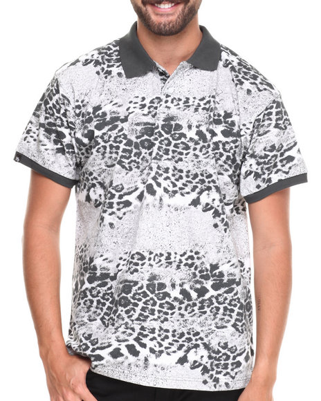 Buyers Picks - Men Animal Print Leopard Animal Print Pique Polo Shirt