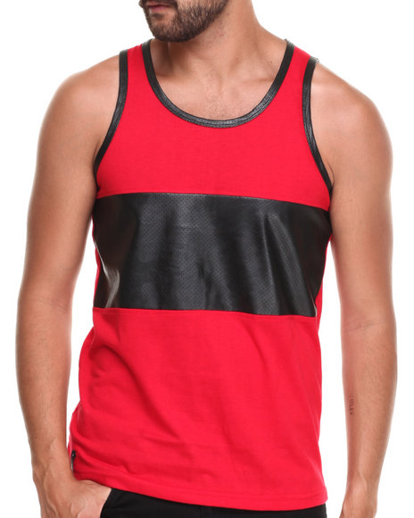 Enyce - Men Red Zach Pu Tank - $8.99