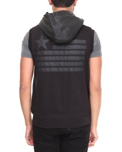 Buyers Picks - Men Black America's Full Zip Sleeveless Hoody