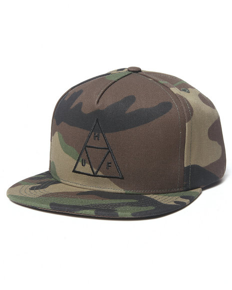 Huf Men Triple Triangle Snapback Cap Camo