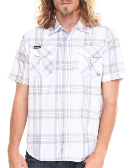 Akademiks - Men Grey Tommy Plaid S/S Button Down