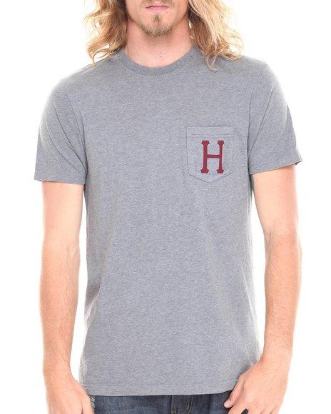 HUF Grey Classic H Pocket Tee