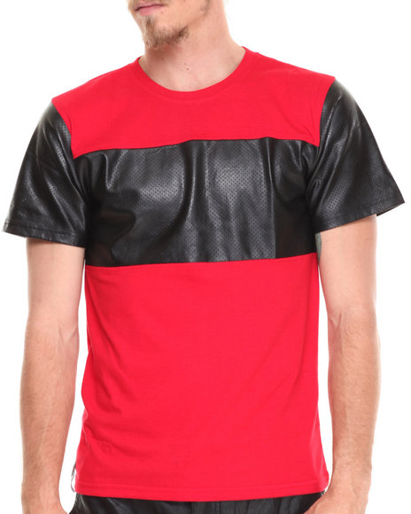 Enyce - Men Red Zach Pu T-Shirt - $20.99