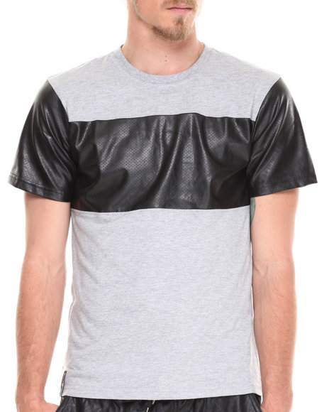 Enyce - Men Grey Zach Pu T-Shirt