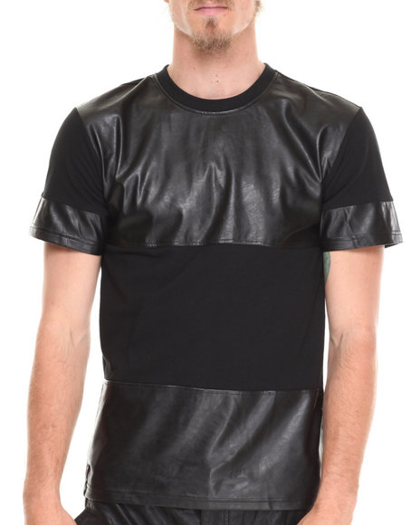 Enyce - Men Black Fletcher Pu T-Shirt - $10.99